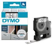 DYMO Ruban nylon D1 12mmx7m blanc sur noir 16957