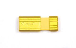 VERBATIM Clé USB Pinstripe Jaune soleil 8Go 47395+REDV