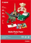 CANON Boîte de 50 feuilles de papier photo mat A4 170g MP101