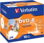 VERBATIM Pack de 10 boîtiers cristal DVD-R imprimables 4,7Go 16x 43521 + redv