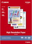 CANON Paquet de 200 feuilles papier couché haute résolution format A4 100g jet d'encre HR101.