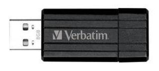VERBATIM Clé USB Pinstripe Noire 8Go 49062