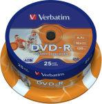 VERBATIM t/25 dvd imprimable 16x 43538 + redv
